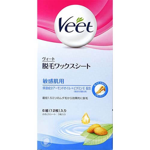 Reckitt Benckiser Japan Vito Hair Removal Wax Sheet Sensitive Skin