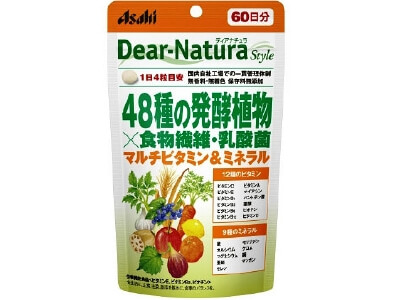 Dear-Natura style 48 kinds of fermentation plants × dietary fiber, lactic acid bacteria (240 tablets)