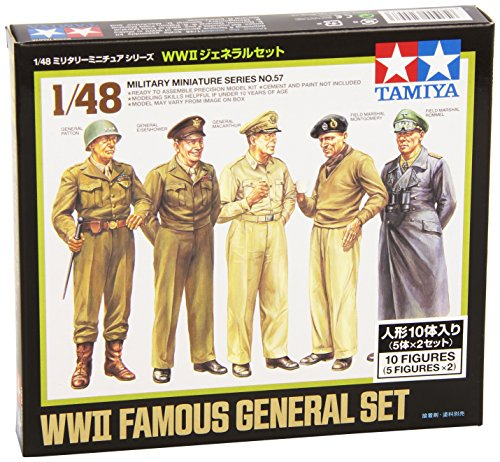 Tamiya 1/48 Military Miniature Series No.57 WWII General set 32557