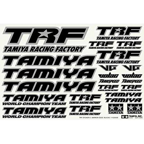 Tamiya TRF Series No.146 TRF sticker C (mirror edge / Black) 42246