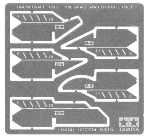 Tamiya precision saw-tooth (made by etching) 74,094 (Craft Tool Series No.94)