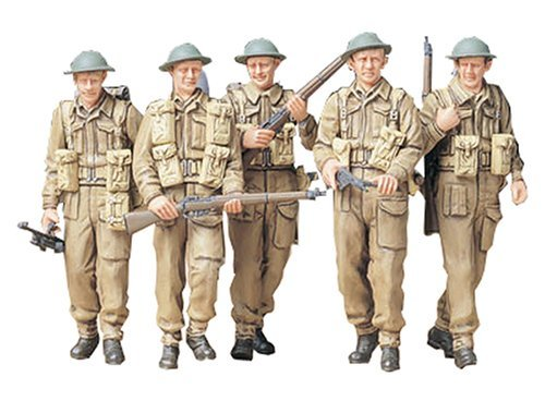 Tamiya 1/35 Military Miniature Series British infantry patrol set 35223