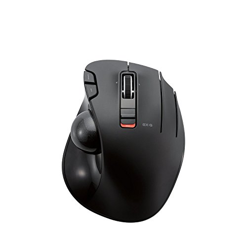 ELECOM Extreme Grip 6-Button w Trackball, Wireless Mouse (Black)