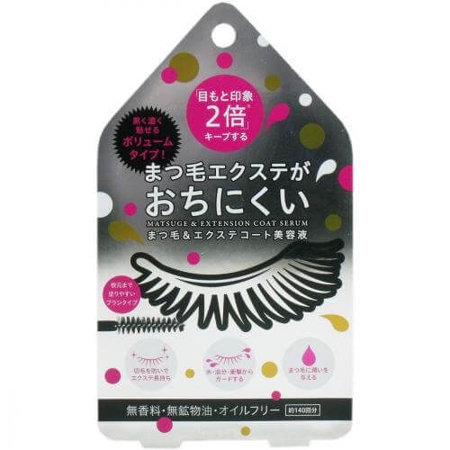 Eyelashes & Extended coat Essence Clear Black about 140 times