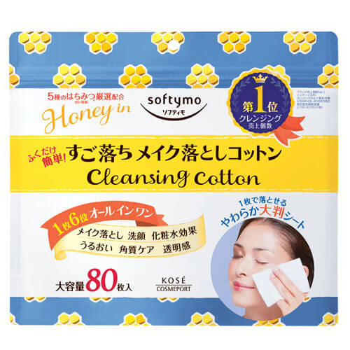 Softymo Cleansing Cotton with Honey (80 Sheets)