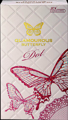 Glamorous butterfly Luxury dot (8 pieces)