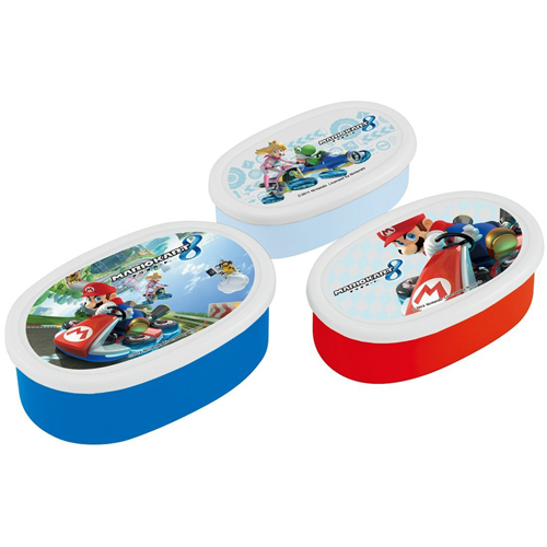 Skater seal container storage container lunch box purse 3P Mario Kart 8 Super Mario SRS3S
