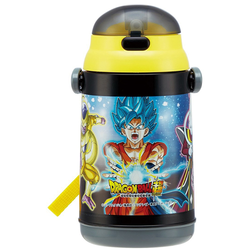 Skater cold with straw water bottle bottle 400ml Dragon Ball super-cold water bottle SSH4C