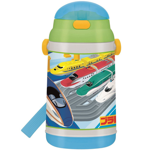 Skater cold with straw water bottle bottle 400ml Plarail 16 cold water bottle SSH4C