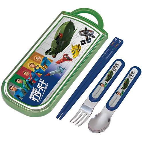 Skater trio set sliding chopsticks spoon fork set Thunderbird AG TCS1AM