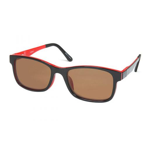 Heart optical Coleman 2WAY magnet polarized sunglasses CMG02-2 Black Red
