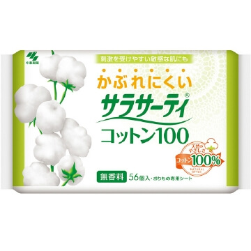 Kobayashi Pharmaceutical Sarasaty cotton 100 fragrance-free