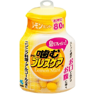 KOBAYASHI Pharmaceutical Chewing Breathcare Bottle 80 tablets Lemon Mint