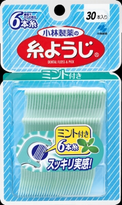 Kobayashi Pharmaceutical yarn toothpick with mint