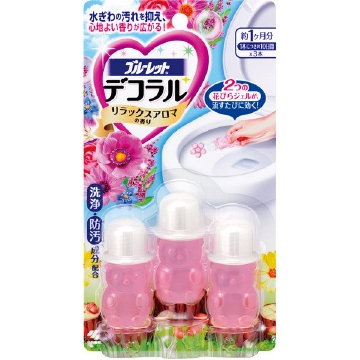 Bluelet Dekoraru Toilet Bowl Cleaner (3 Single-use Tubes) Relax Aroma