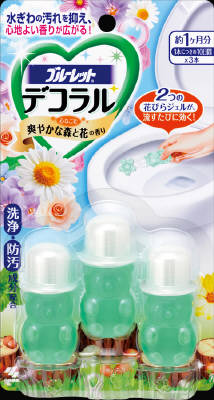 Bluelet Dekoraru Toilet Bowl Cleaner - Refreshing Forest and Flower (3 Single-use Tubes)