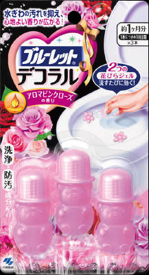 Bluelet Dekoraru Toilet Bowl Cleaner - Aroma Pink Rose (3 Single-Use Tubes)