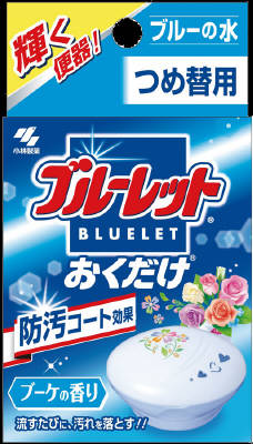 KOBAYASHI Pharmaceutical BLUELET Toilet Bowl Cleaner Refill 25g Bouquet