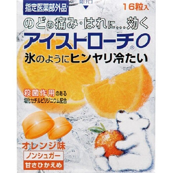 Ice lozenges 16 tablets orange flavor