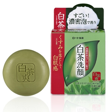 Rohto white tea 爽白 tea soap (85G)