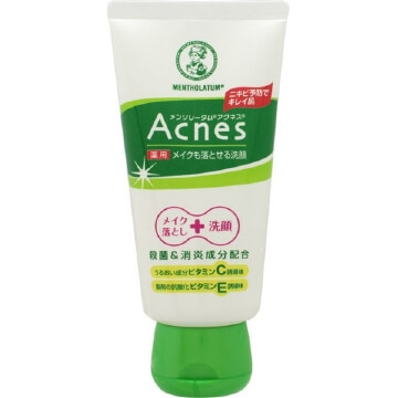 Rohto Mentholatum Acnes Medicated Face Wash Makeup Remover (130G)