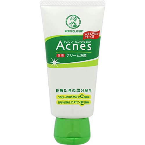 Rohto Mentholatum Acnes Medicated Cream Face Wash (130G)