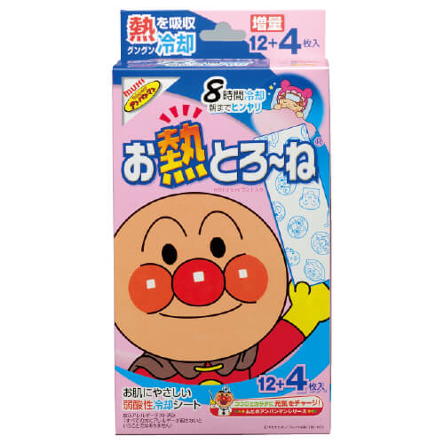 Fever-Relieving Sheets 8 Hours Anpanman 12 + 4 Sheets