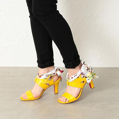 [LOVELESS] WOMEN scarf heel sandals