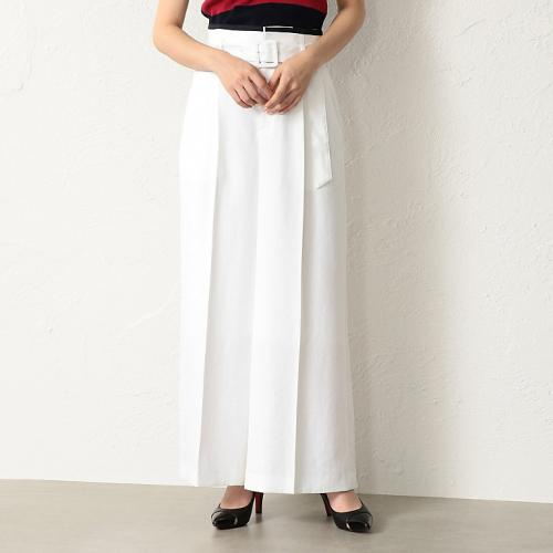 [LOVELESS] WOMEN linen-like white wide pants