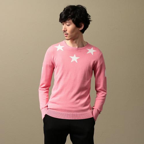 [GUILD PRIME] MEN star intarsia knit