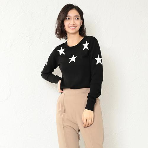 [GUILD PRIME] WOMEN star intarsia knit
