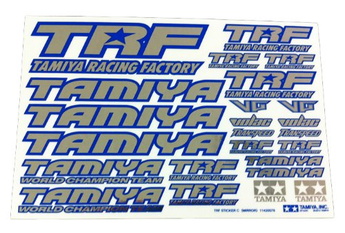 Tamiya TRF Series No.137 TRF sticker C (blue edge / mirror) 42237