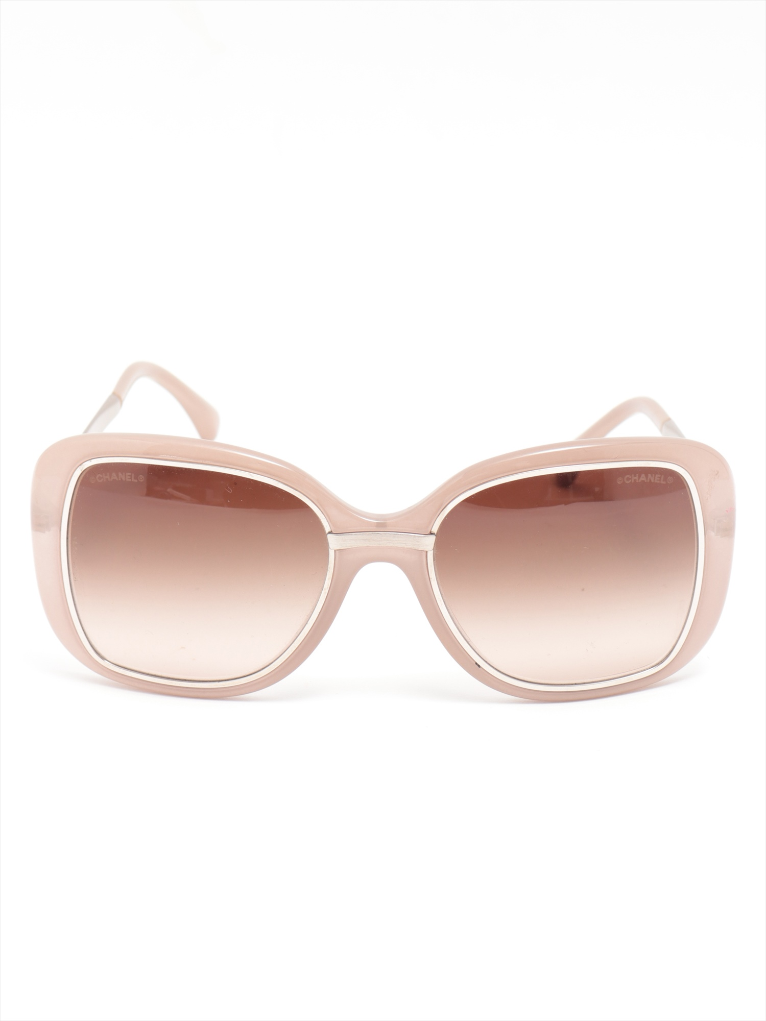 [Used goods] Chanel sunglasses plastic 6044-T pink beige with box