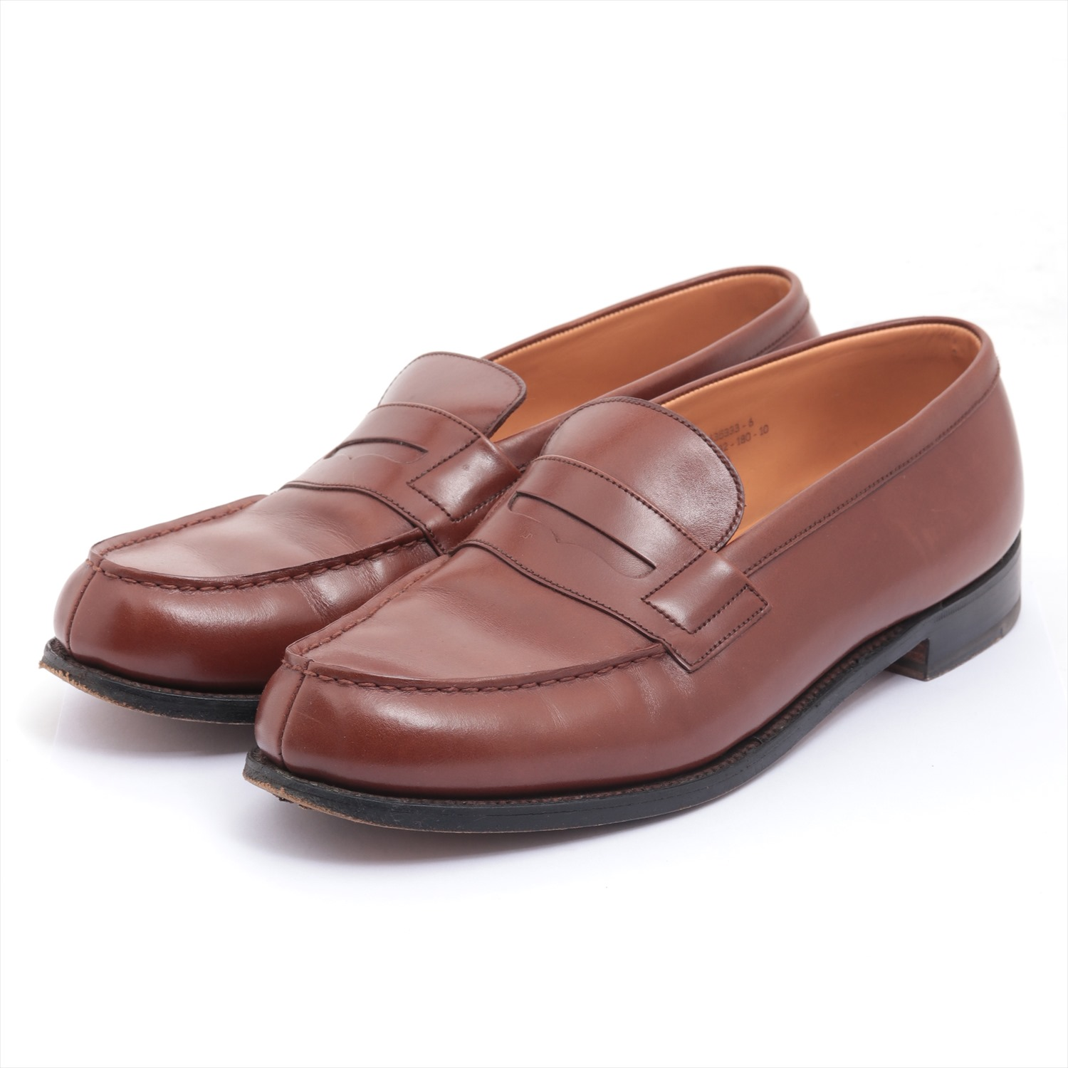 [Used article] J. M. Weston leather loafers 8 Men's Brown