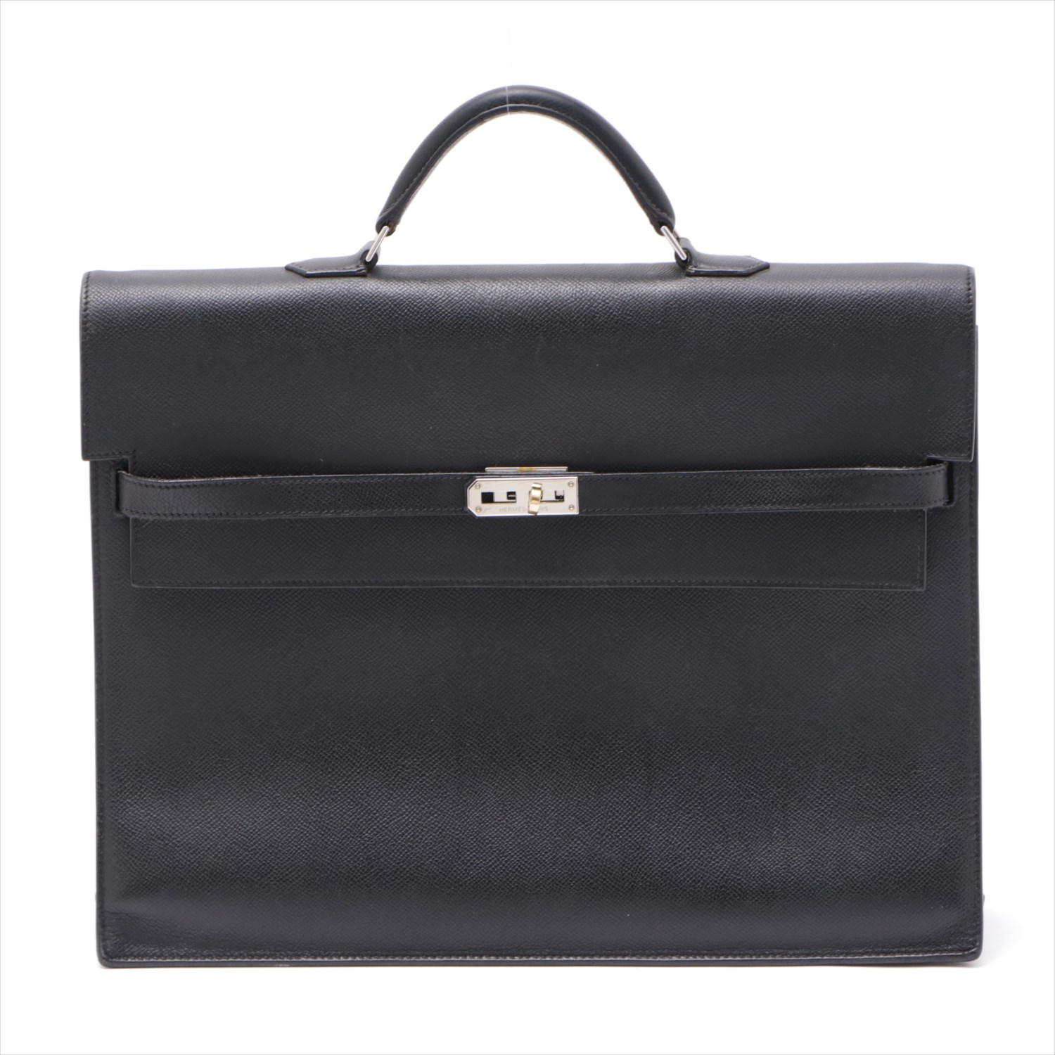 [Used goods] Hermes Kelly Depeche 38 Epsom business bag black Silver hardware I: 2005 years