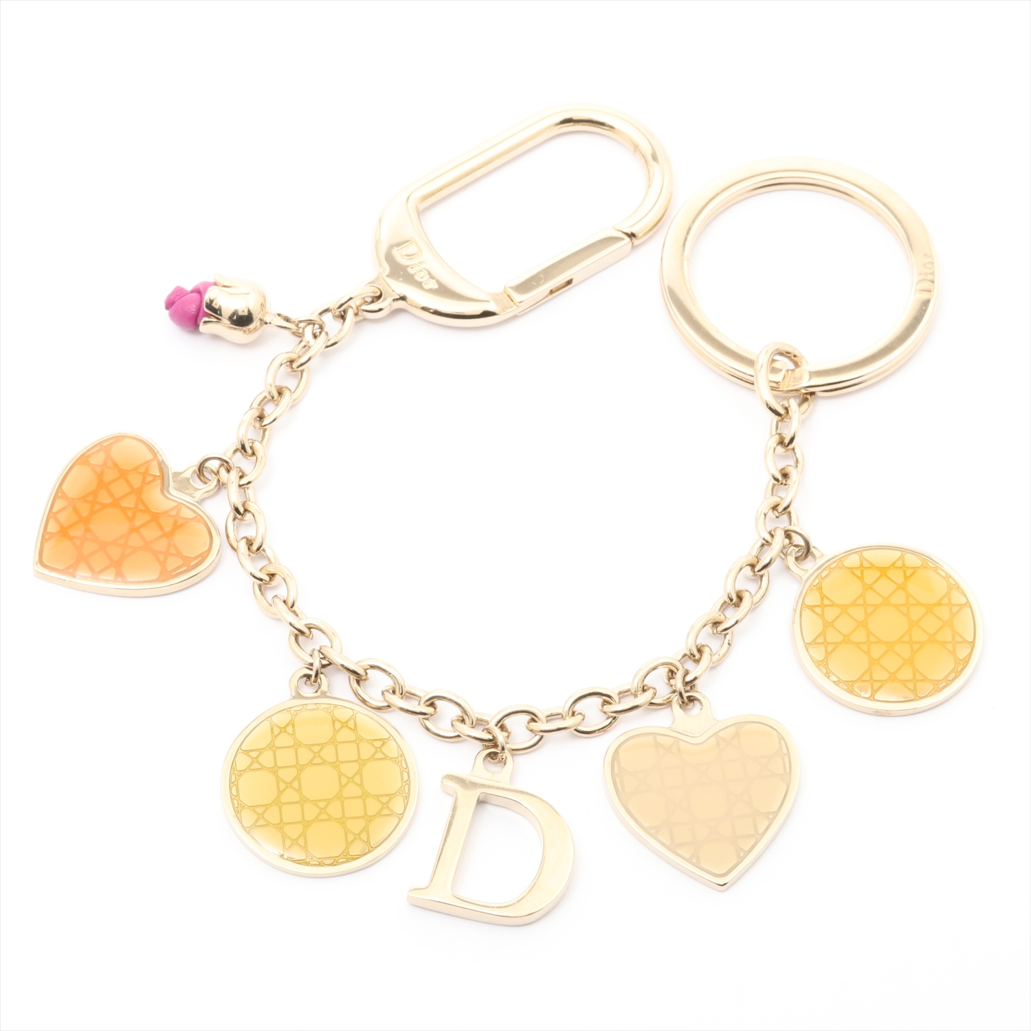 [Used article] Christian Dior key chain metal material gold bag charm