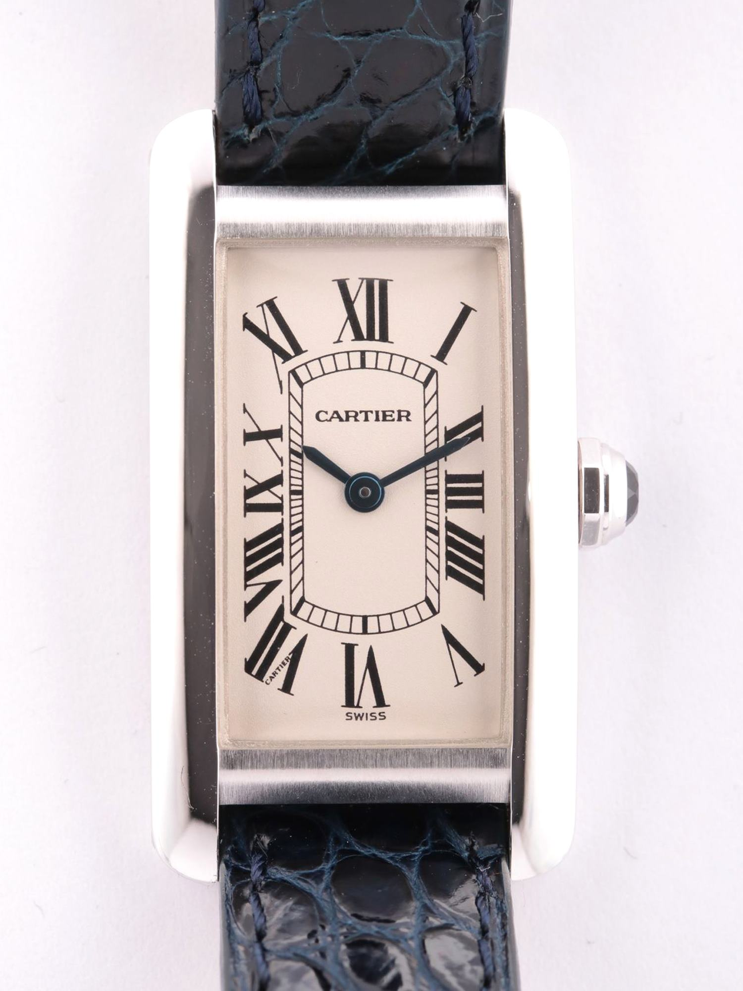 [Used article] Cartier Tank American SM K18 QZ white dial too Gomanashi