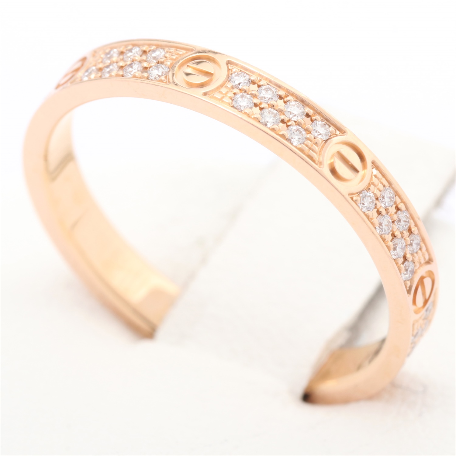 [Used article] Cartier Cartier love ring SM paved diamond 750PG # 51