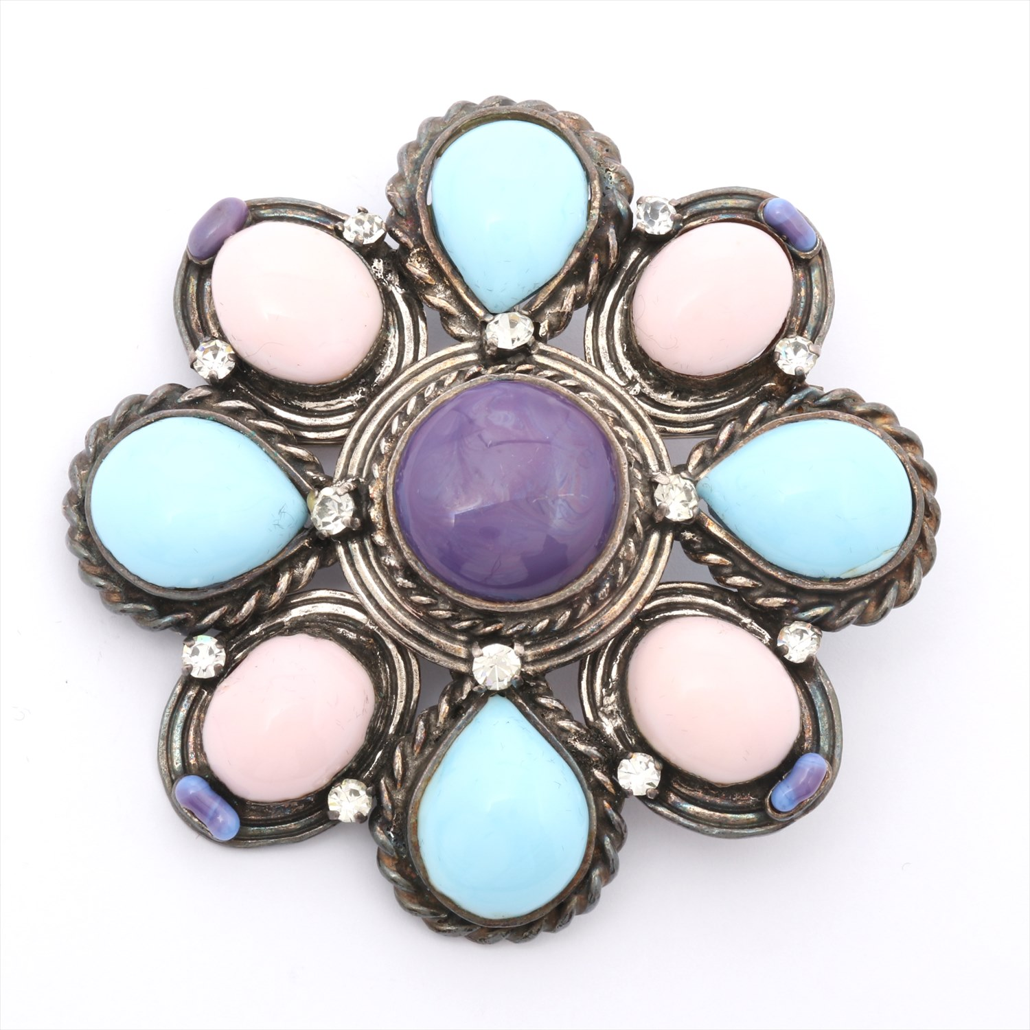 [Used goods] Chanel brooch color stone multi-color 96P