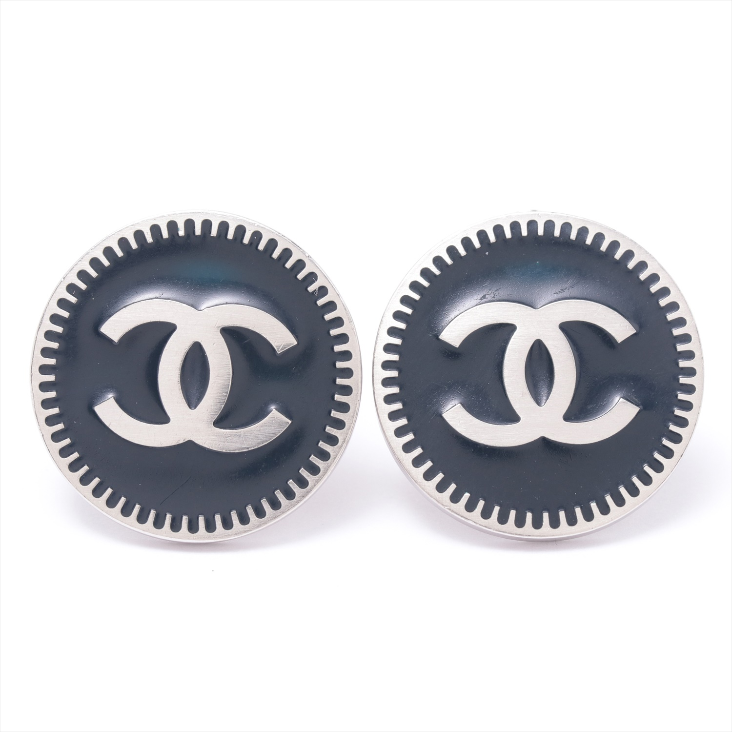 [Used goods] Chanel Coco mark earrings (for both ears) metal material black 06P
