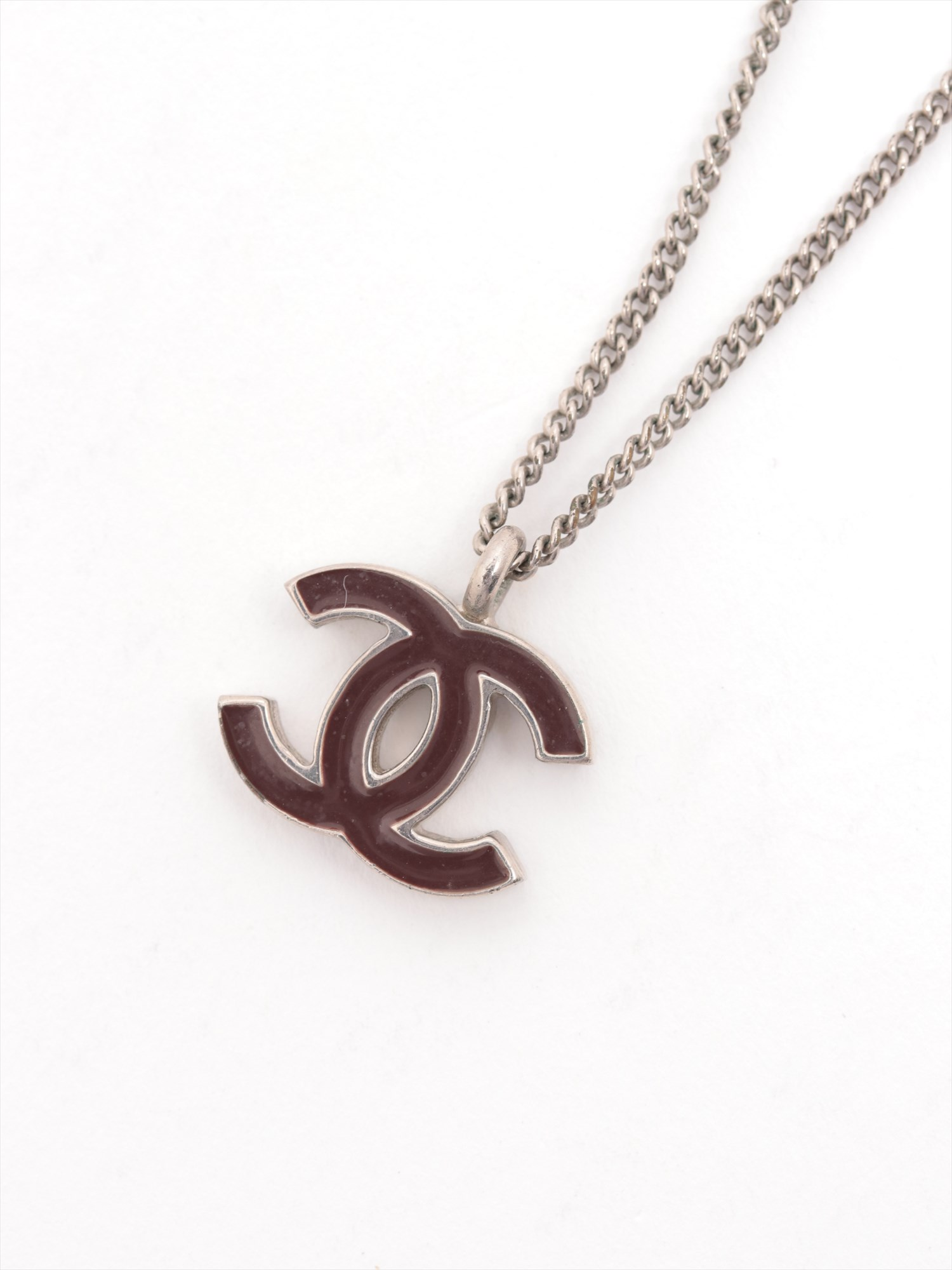 [Used goods] Chanel Coco mark necklace brass Silver 02C