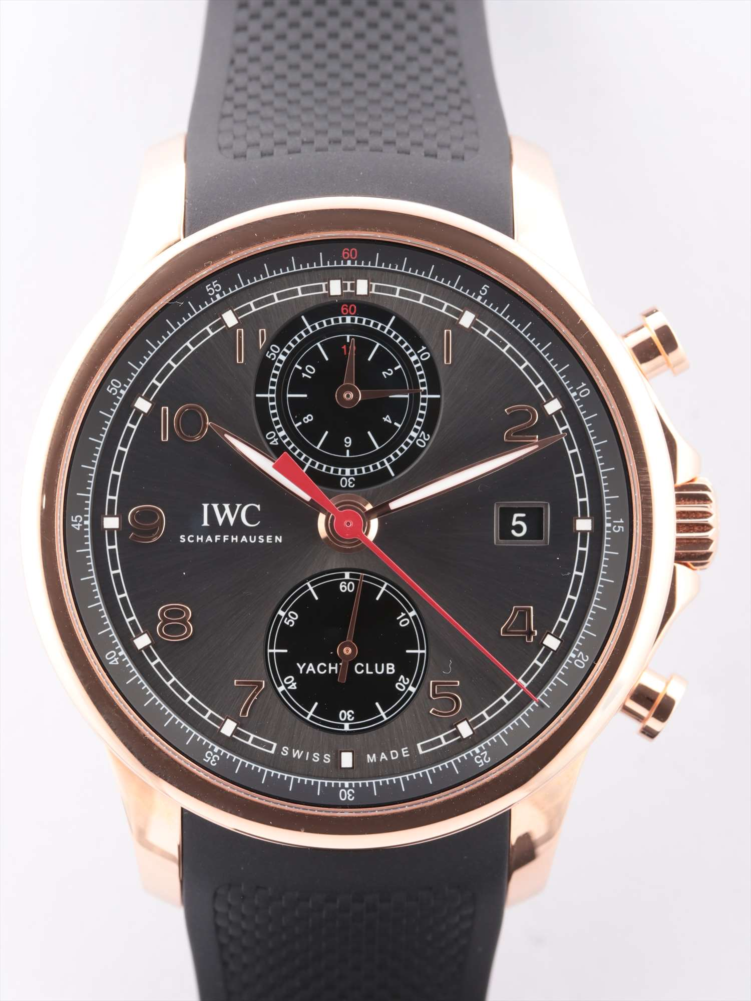 [Used goods] IWC Portuguese Yacht Club PG × rubber AT gray dial too Gomanashi IW390505
