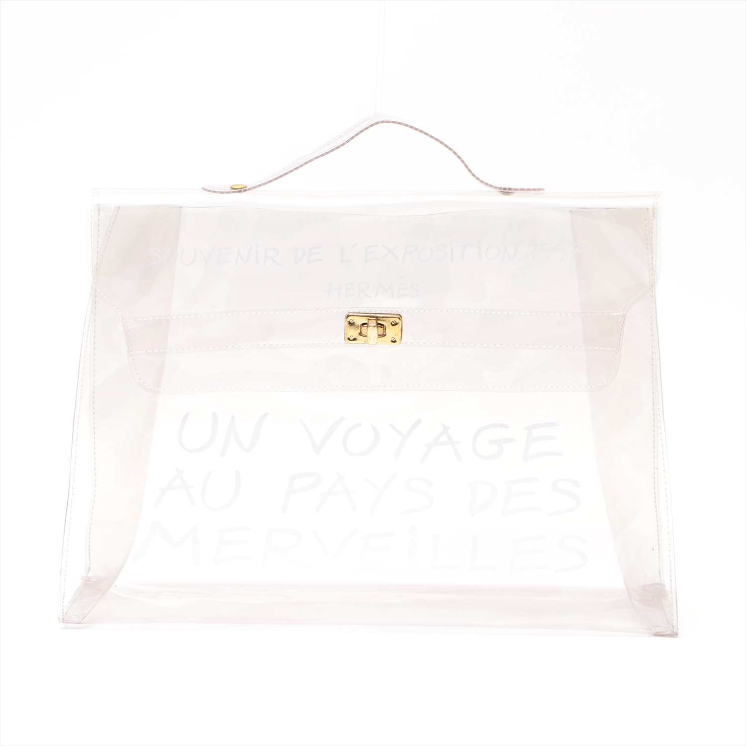 [Used goods] Hermes vinyl Kelly vinyl clear Gold Hardware