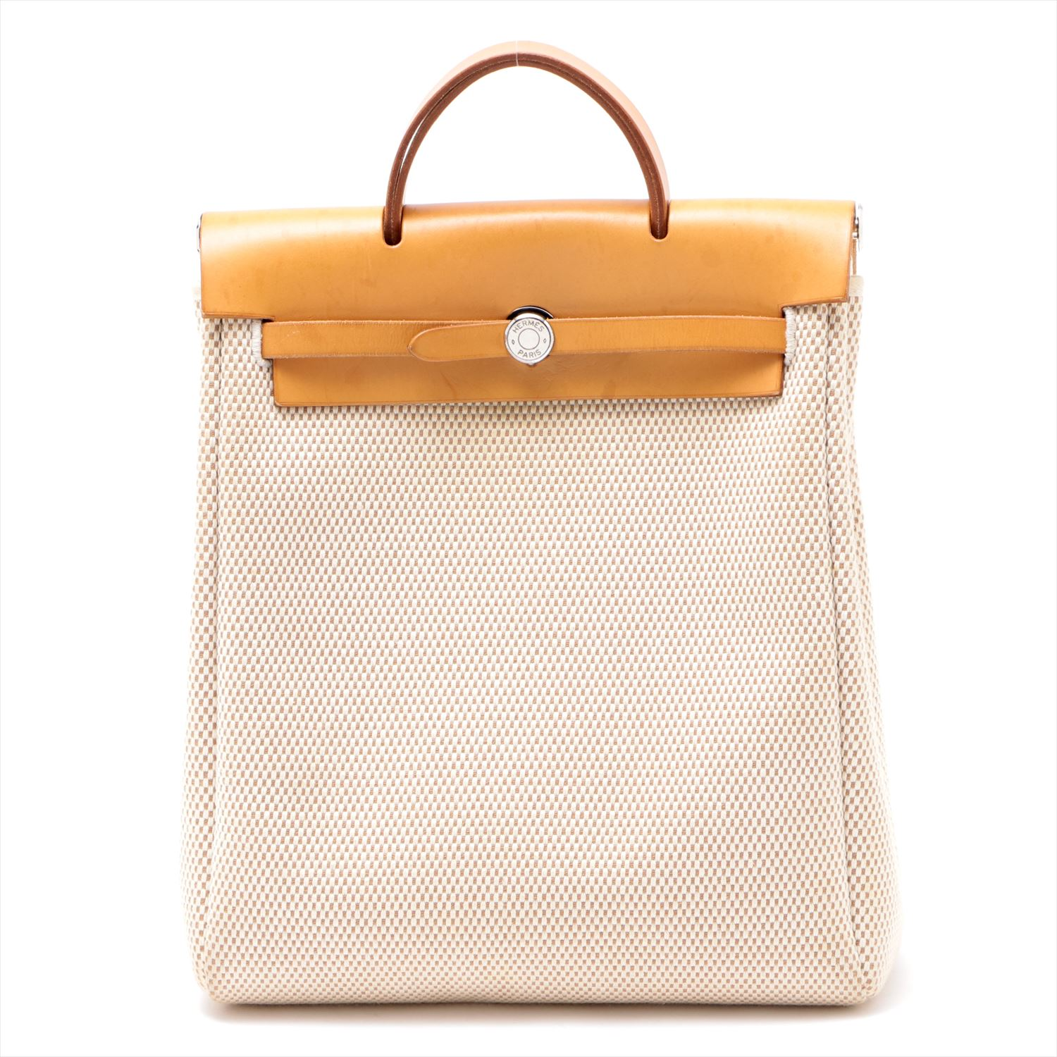 [Used goods] Hermes ale bag ad PM Toile GM Luc natural Silver hardware G: 2003 years