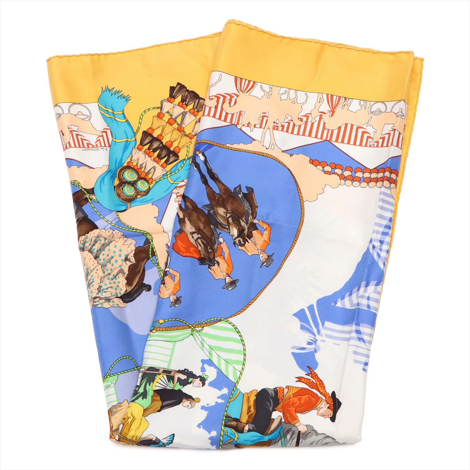 [Used goods] Hermes Carre 90 scarf silk FERIA DE SEVILLA (Seville holiday)