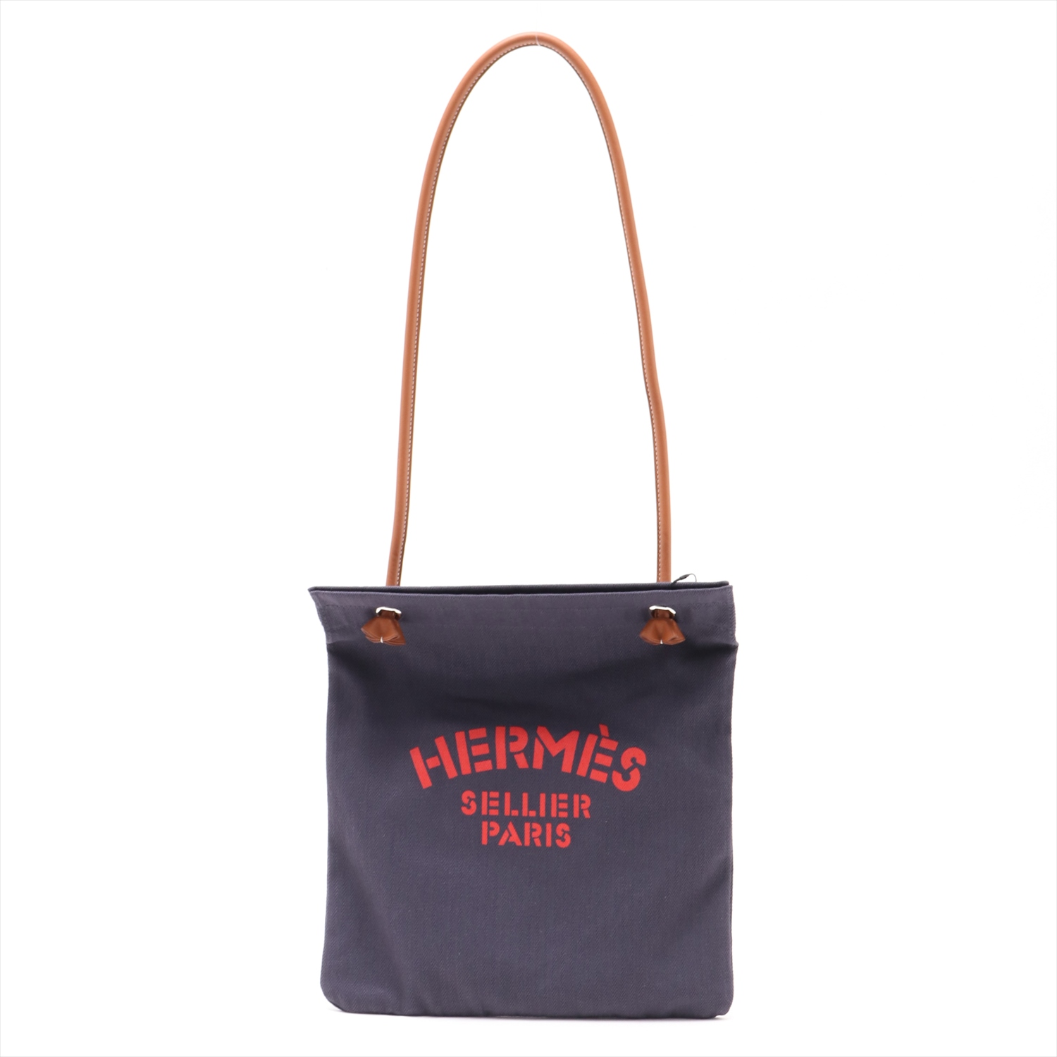 [Used goods] Hermes Arinu canvas × leather shoulder bag Navy