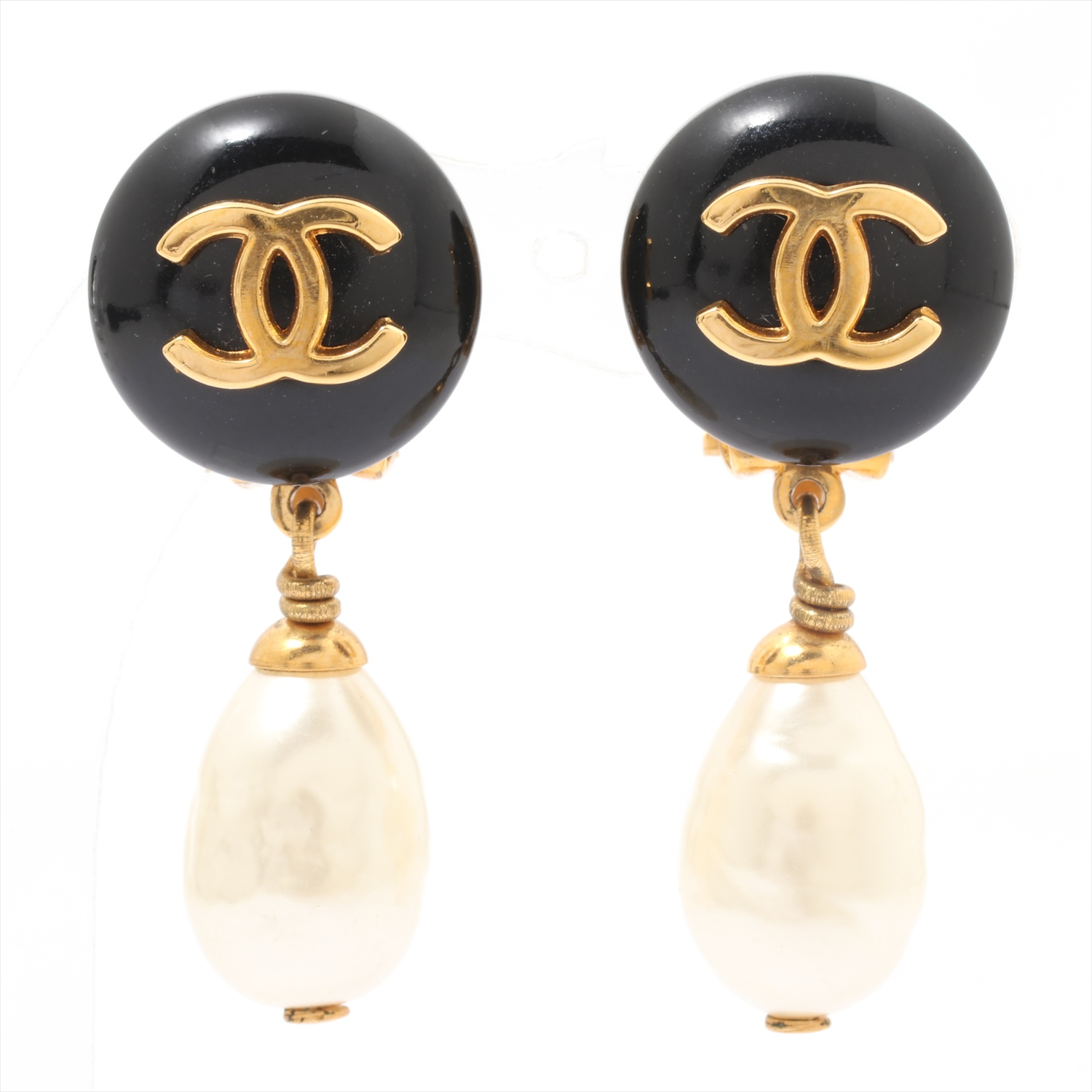 [Used article] (for both ears) Chanel earrings GP gold here Mark Pearl