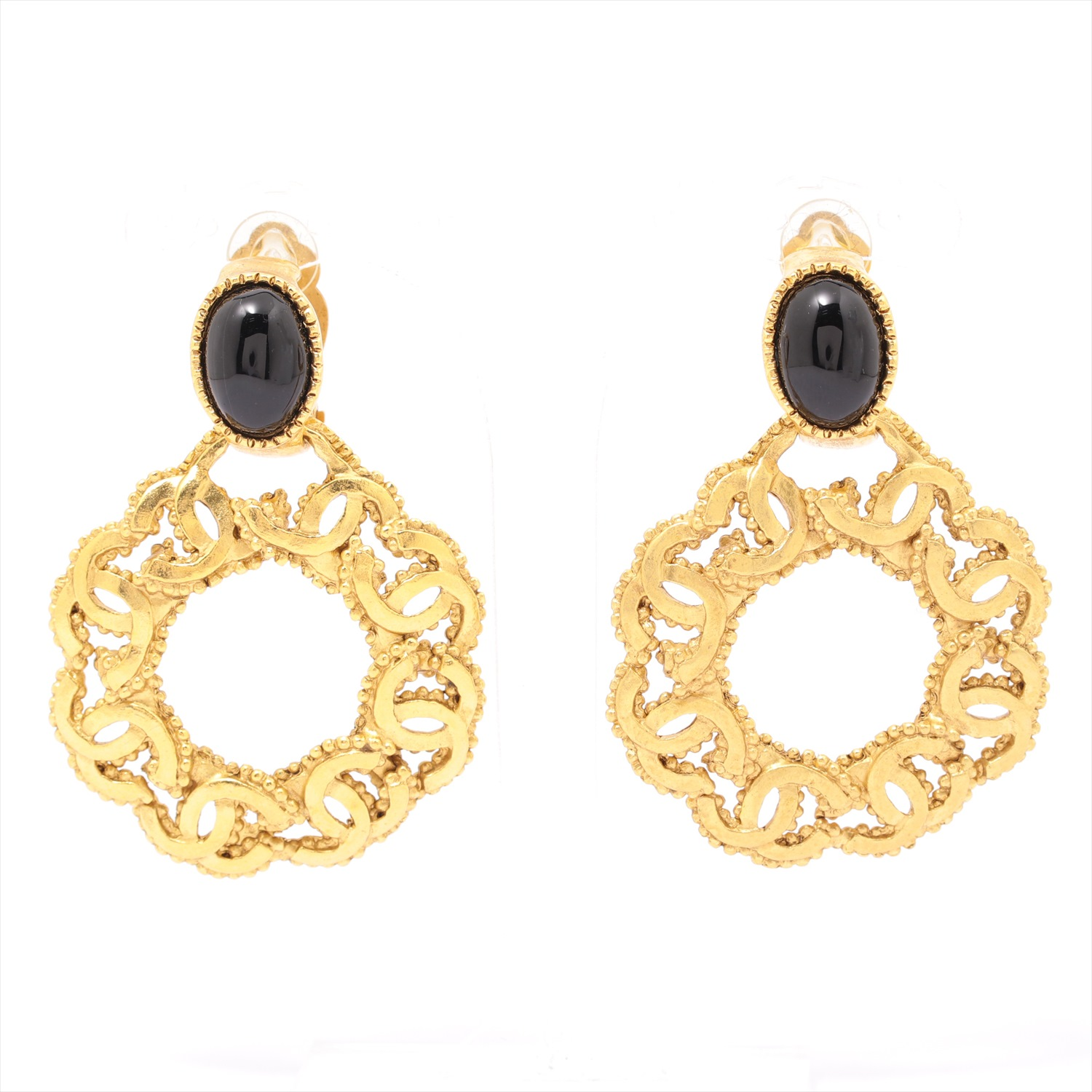 [Used goods] Chanel Coco mark earrings (for both ears) GP Gold Blackstone 94A