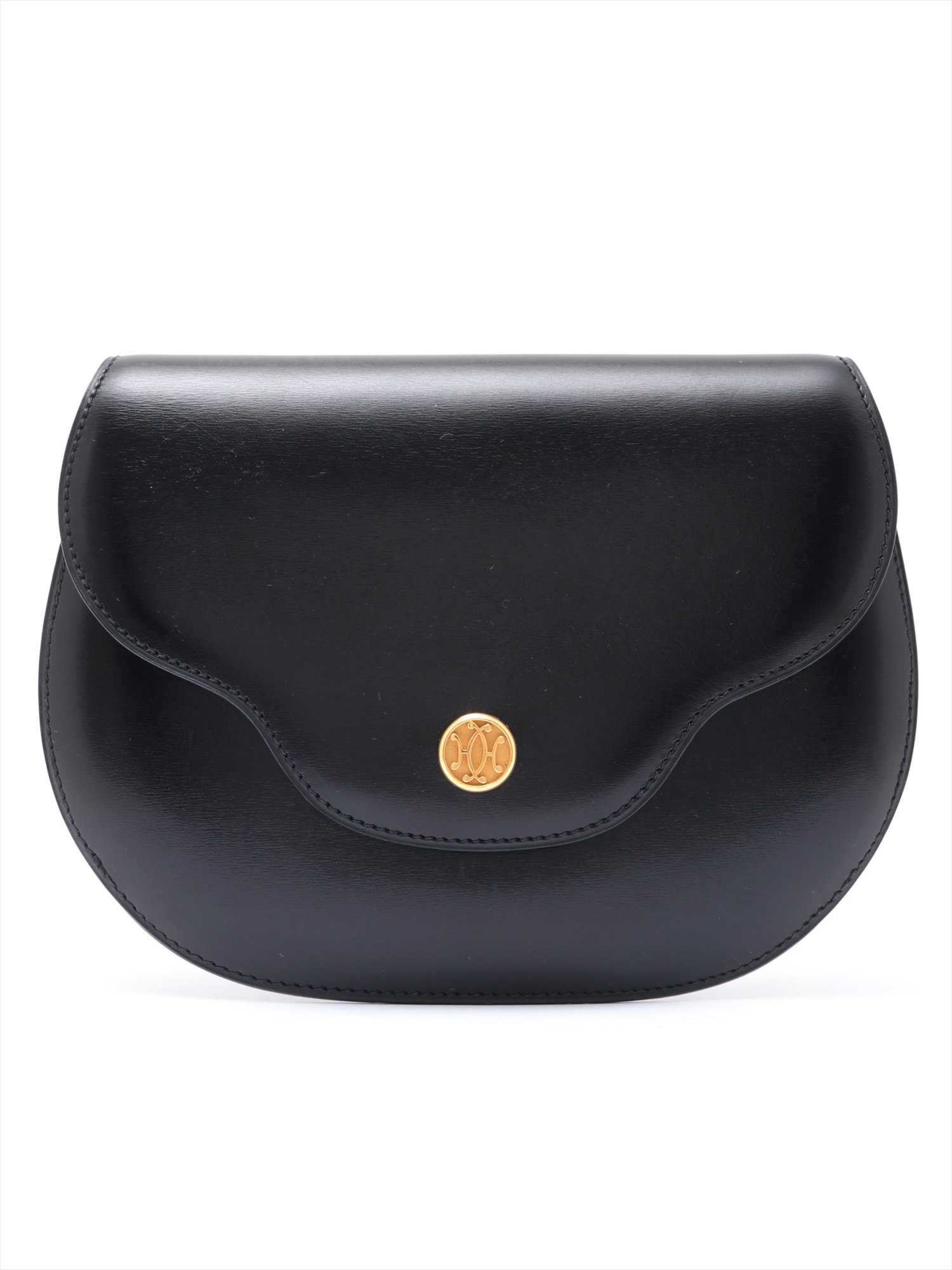 [Used goods] Hermes Paula box calf shoulder bag Black Gold Hardware