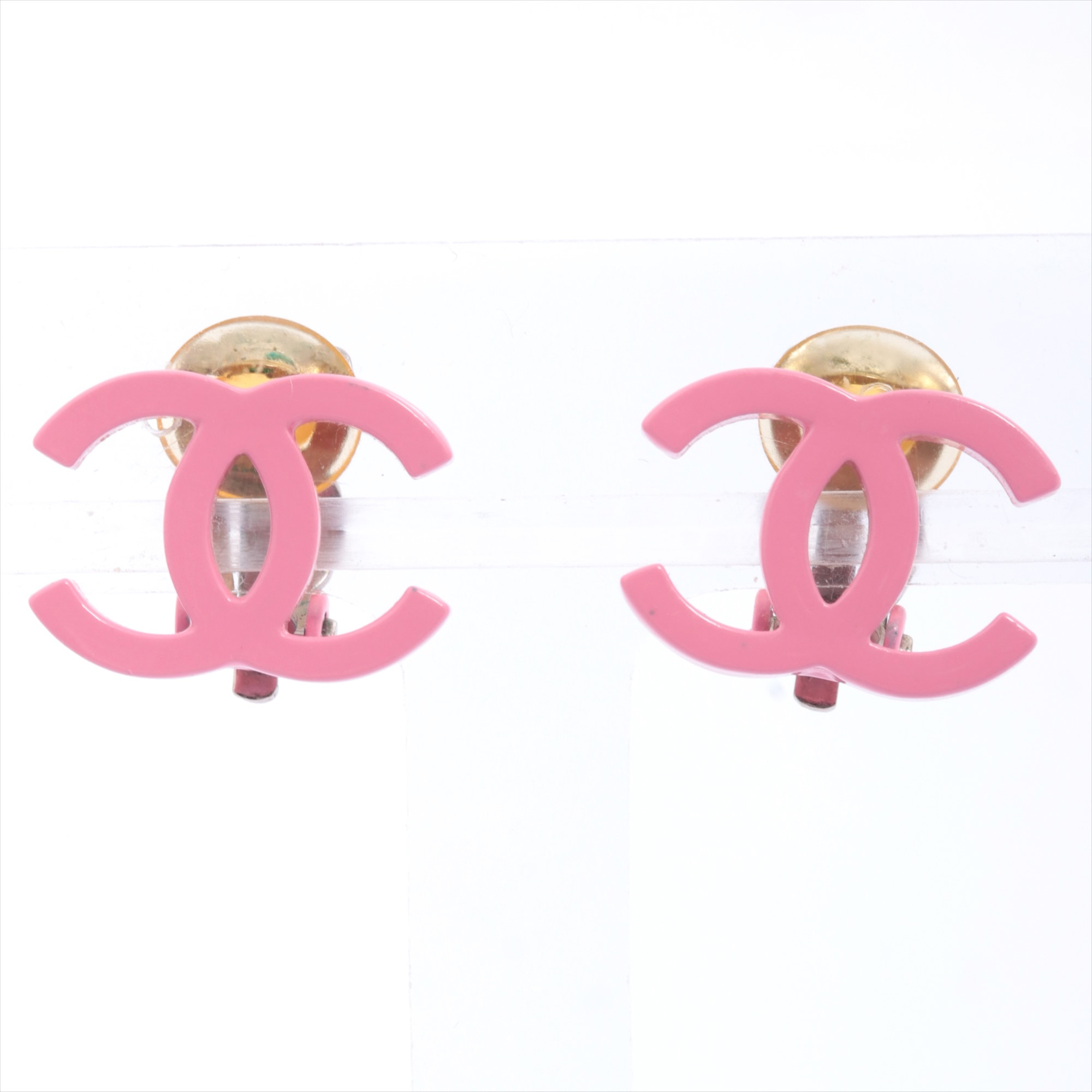 [Used goods] Chanel Coco mark earrings (for both ears) brass pink 04C